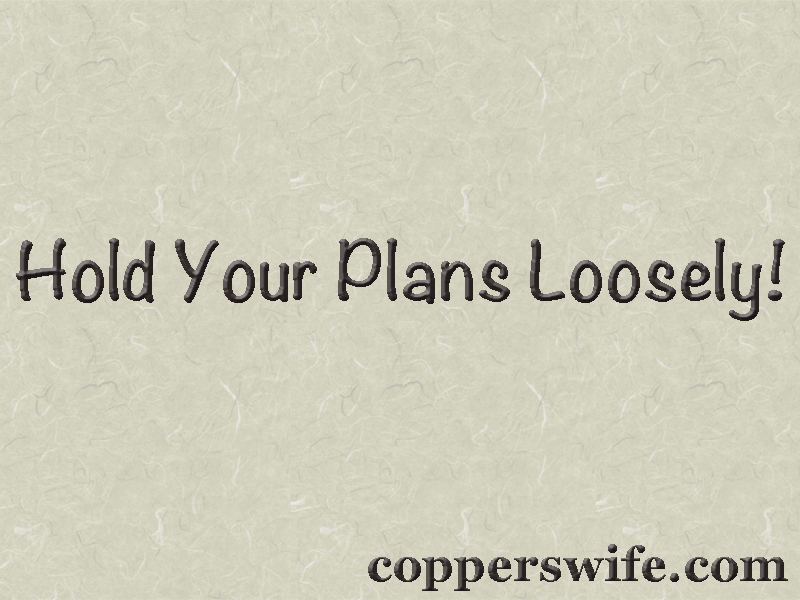 hold your plans loosely sign