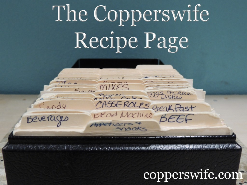All of the recipes from the Copperswife blog now in one easy-to-use location!