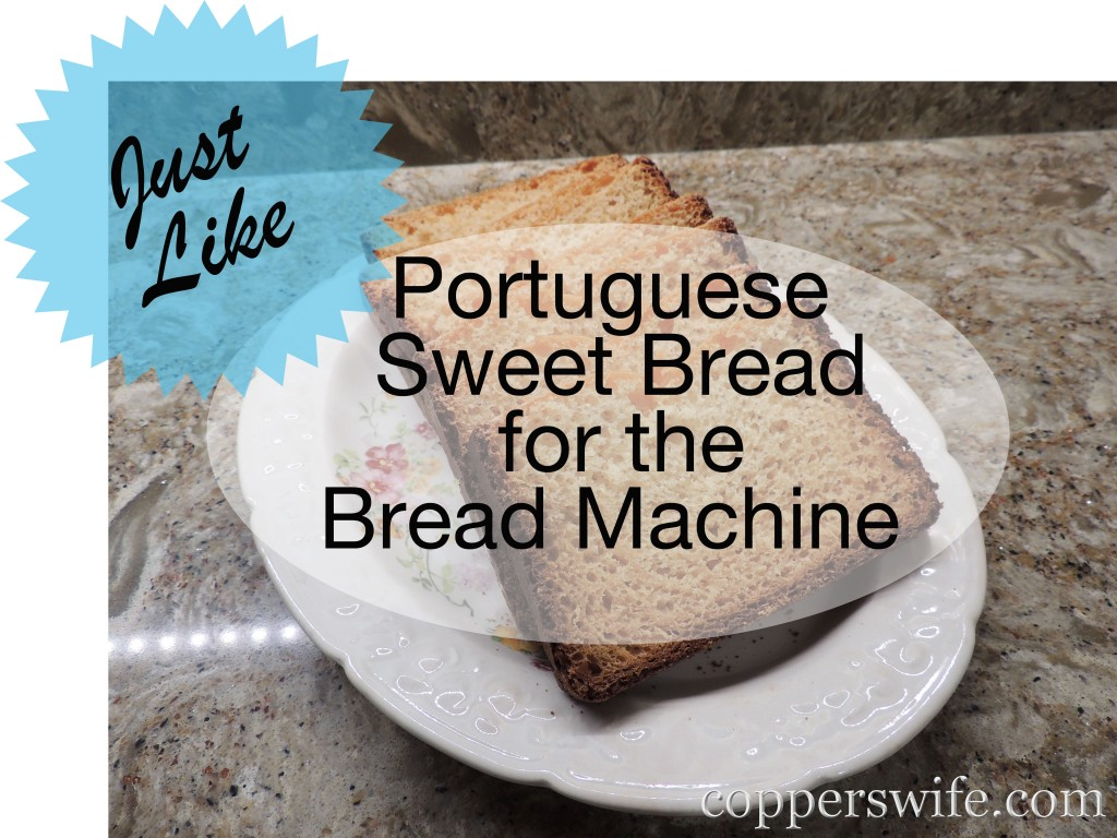 Recipe Portuguese Sweet Bread